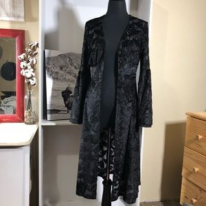 Sweaters - Black Lace duster